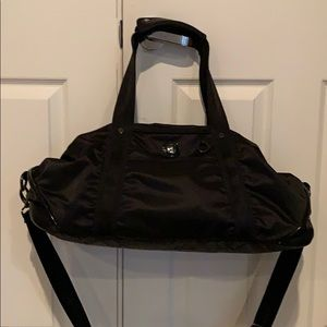 Lululemon black Athletic workout gym bag